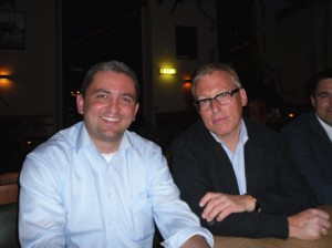 Oswald Metzger und ich am 19. Mai 2011 im Alten Schlachthof, Wiesloch