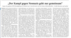 """Kampf gegen Nazis geht nur gemeinsam"""