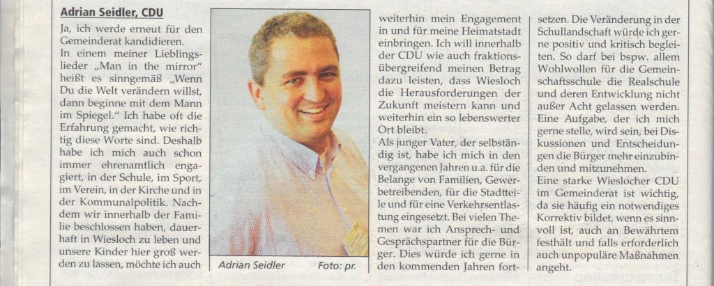 Mein Statement Adrian Seidler in der WieWo (19.3.14)